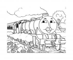 coloriage-thomas-et-ses-amis-train-23 free to print