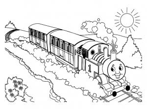 Image de Thomas et ses amis à télécharger et colorier