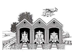 Coloriage de Thomas et ses amis pour enfants