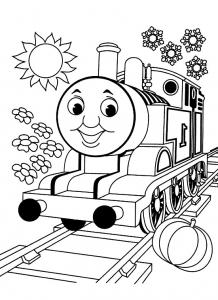 Coloriage de Thomas et ses amis à imprimer
