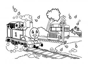 coloriage-thomas-et-ses-amis-train-3 free to print