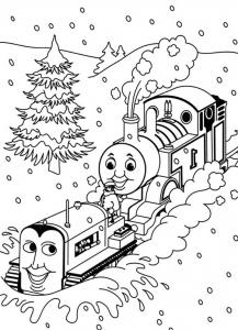 Coloriage de Thomas et ses amis à imprimer pour enfants