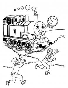 Dessin de Thomas et ses amis gratuit à télécharger et colorier