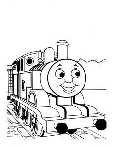 Coloriage de Thomas et ses amis à colorier pour enfants