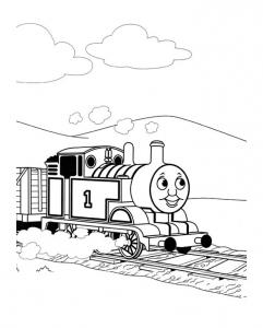 coloriage-thomas-et-ses-amis-train-8 free to print