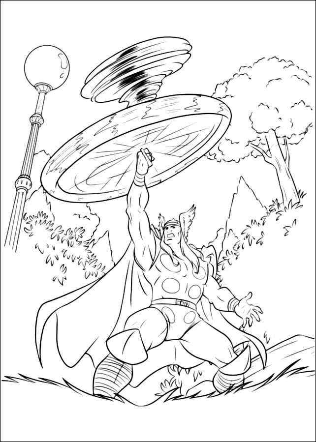 Coloriage de Thor gratuit