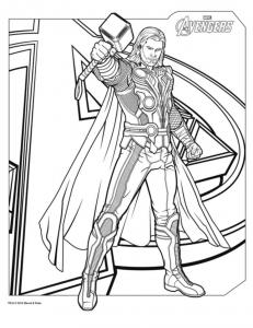 avengers_thor free to print