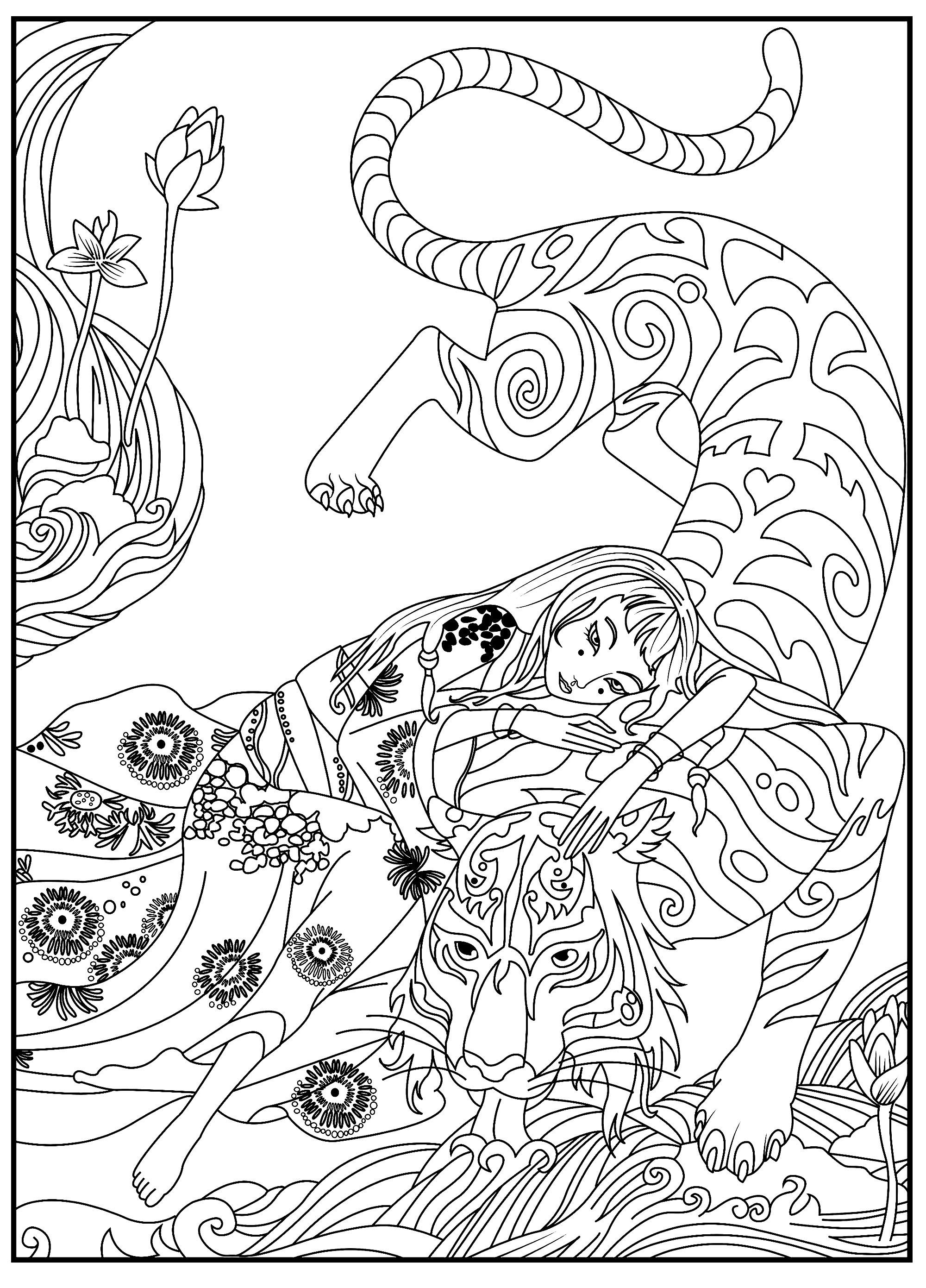 Image De Tigre A Imprimer Et Colorier Coloriage De Tigres Coloriages Pour Enfants