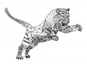 Coloriage de tigre à imprimer gratuitement