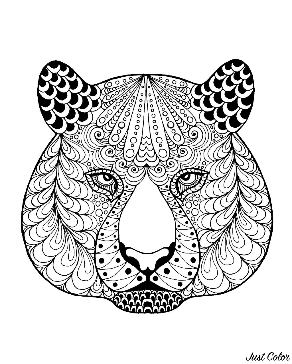 Coloriage De Tigre A Telecharger Gratuitement Coloriage De