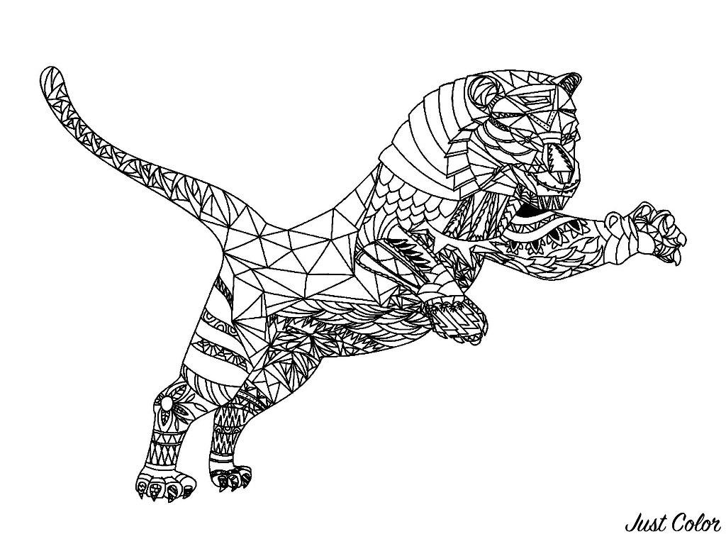 Coloriage De Tigre A Imprimer Gratuitement Coloriage De Tigres Coloriages Pour Enfants