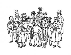 Dessin de Tintin gratuit à télécharger et colorier