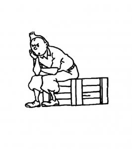 Coloriage de Tintin à télécharger