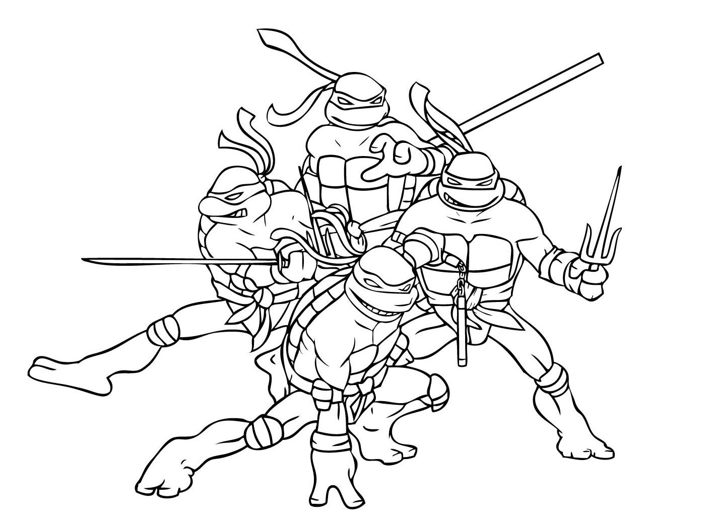 Tortue ninja 1 coloriage tortues ninja coloriages pour - Dessin anime ninja ...