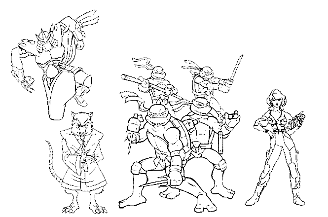 Tortue Ninja 1 Coloriage Tortues Ninja Coloriages Pour