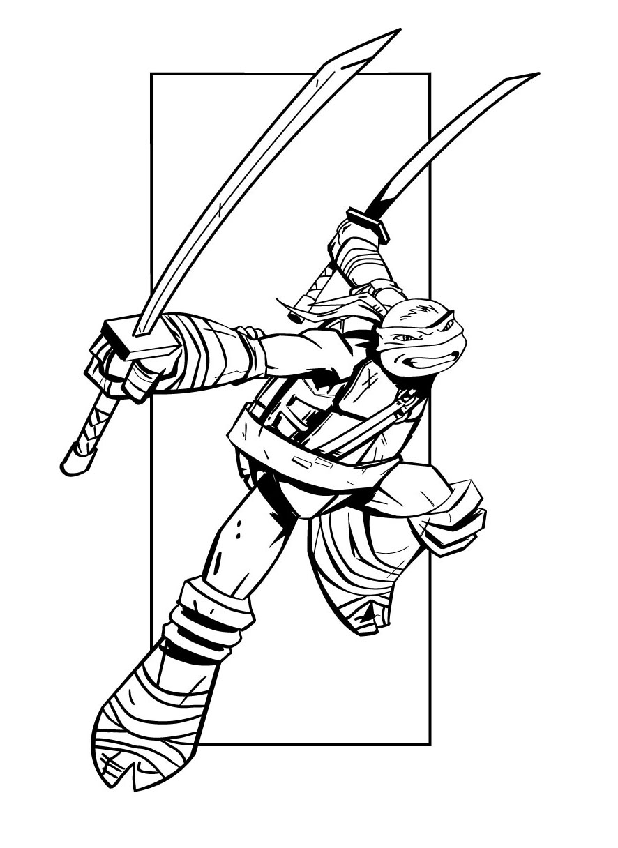 Tortue ninja 5 coloriage tortues ninja coloriages pour - Tortue en dessin ...