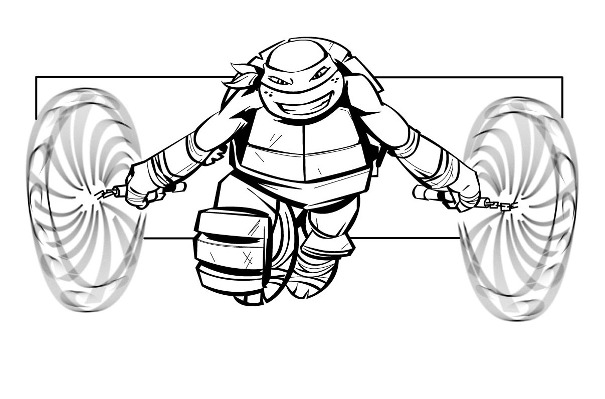 Tortue ninja 6 coloriage tortues ninja coloriages pour - Tortue en dessin ...