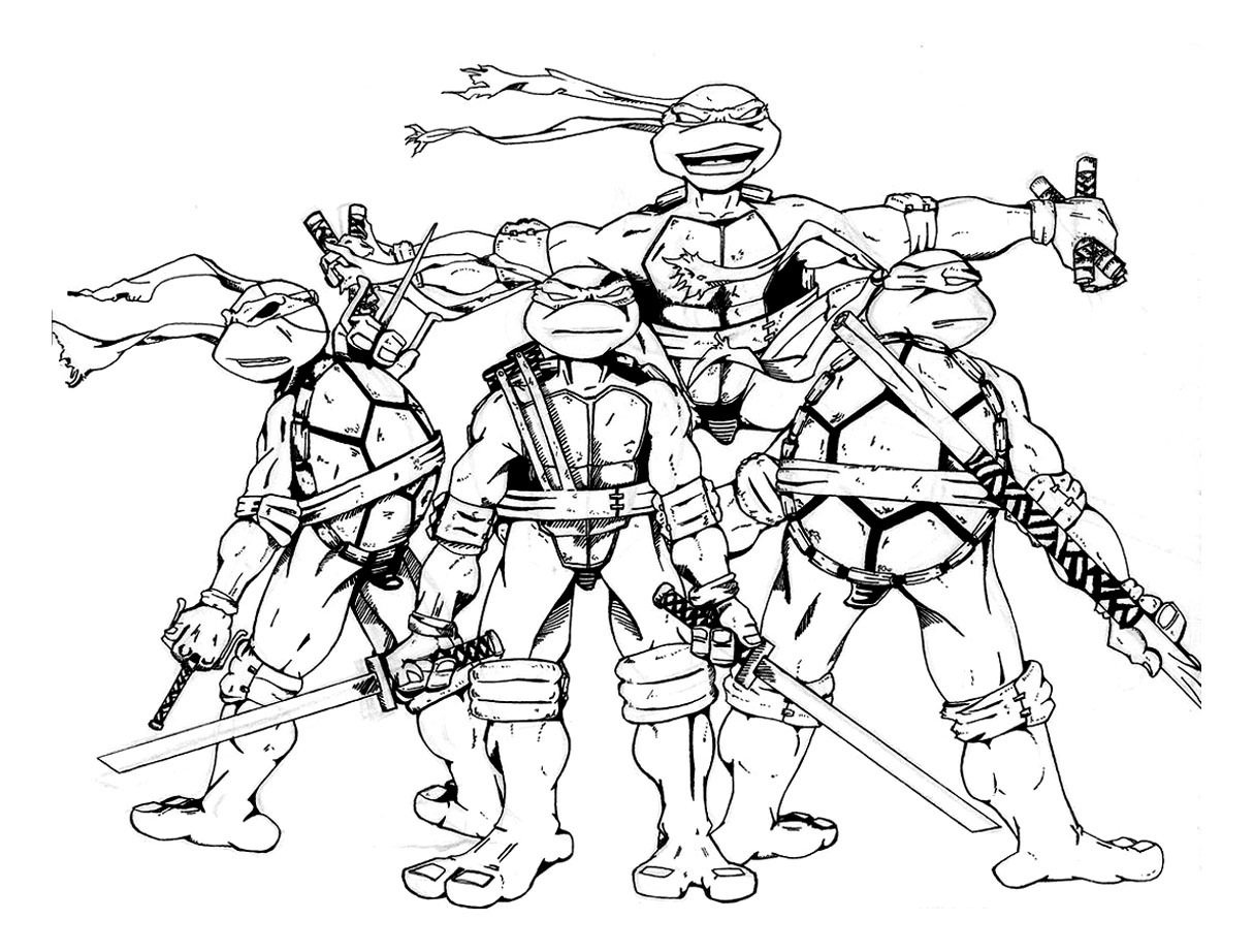 Tortue ninja 9 coloriage tortues ninja coloriages pour - Tortue en dessin ...