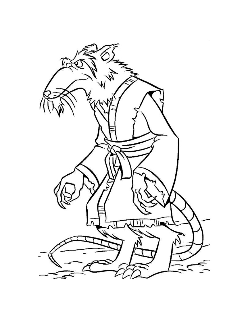 Tortue ninja rat splinter 7 coloriage tortues ninja - Tortue en dessin ...