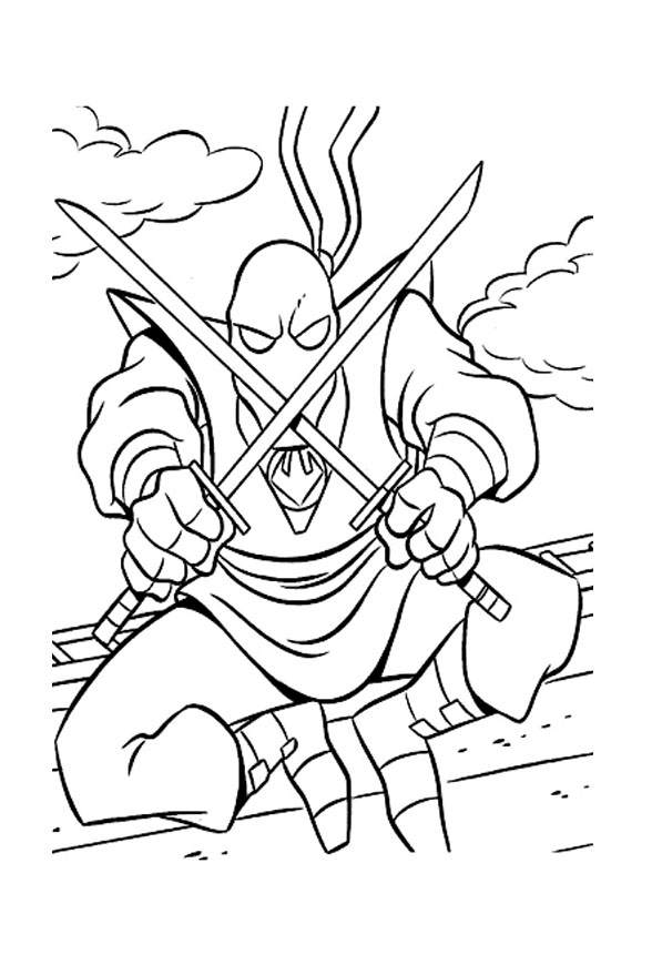 Tortue ninja shreder coloriage tortues ninja - Coloriage tortues ninja ...