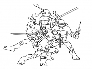 coloriage tortue ninja 1