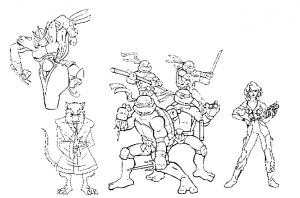 coloriage-tortue-ninja-1 free to print