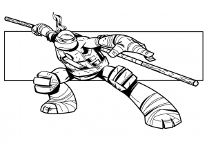 Coloriage de Tortues Ninja à telecharger gratuitement