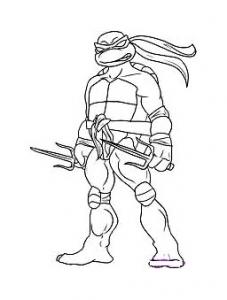 coloriage-tortue-ninja-3 free to print