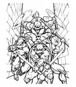 coloriage-tortue-ninja-4 free to print