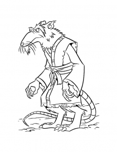 coloriage-tortue-ninja-rat-splinter-7 free to print