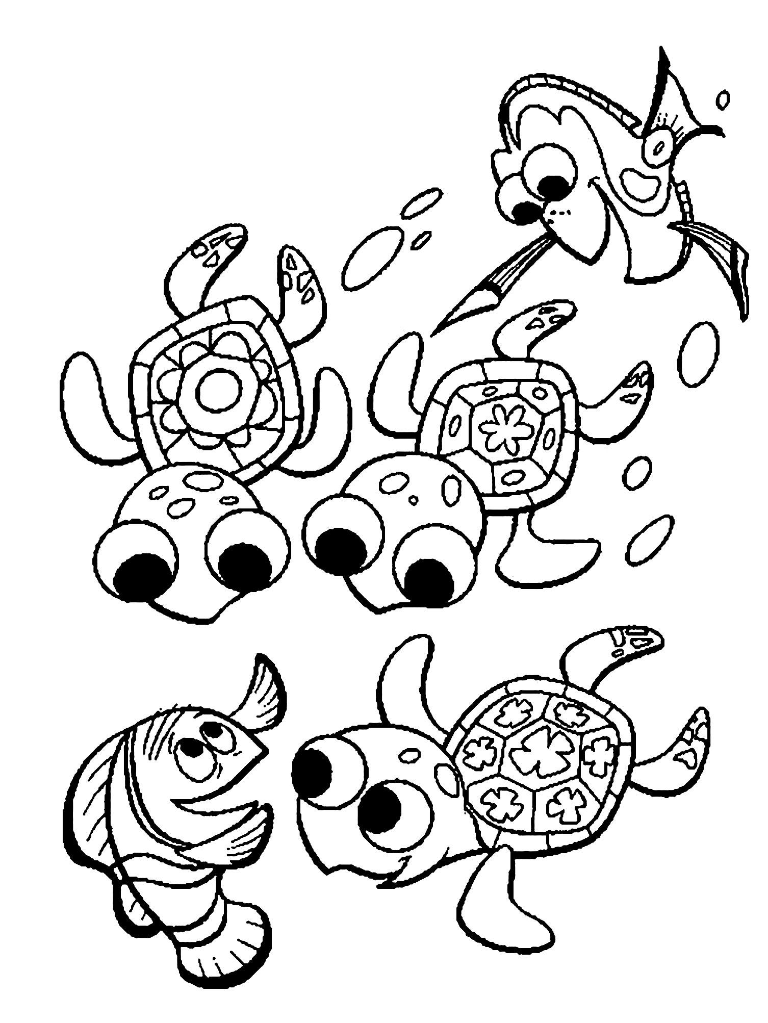 Dessin de tortue gratuit à imprimer et colorier - Coloriage de Tortues - Coloriages pour enfants