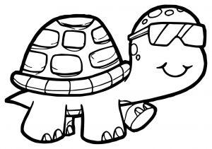 Coloriage de tortue à télécharger