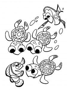 Dessin de tortue gratuit à imprimer et colorier