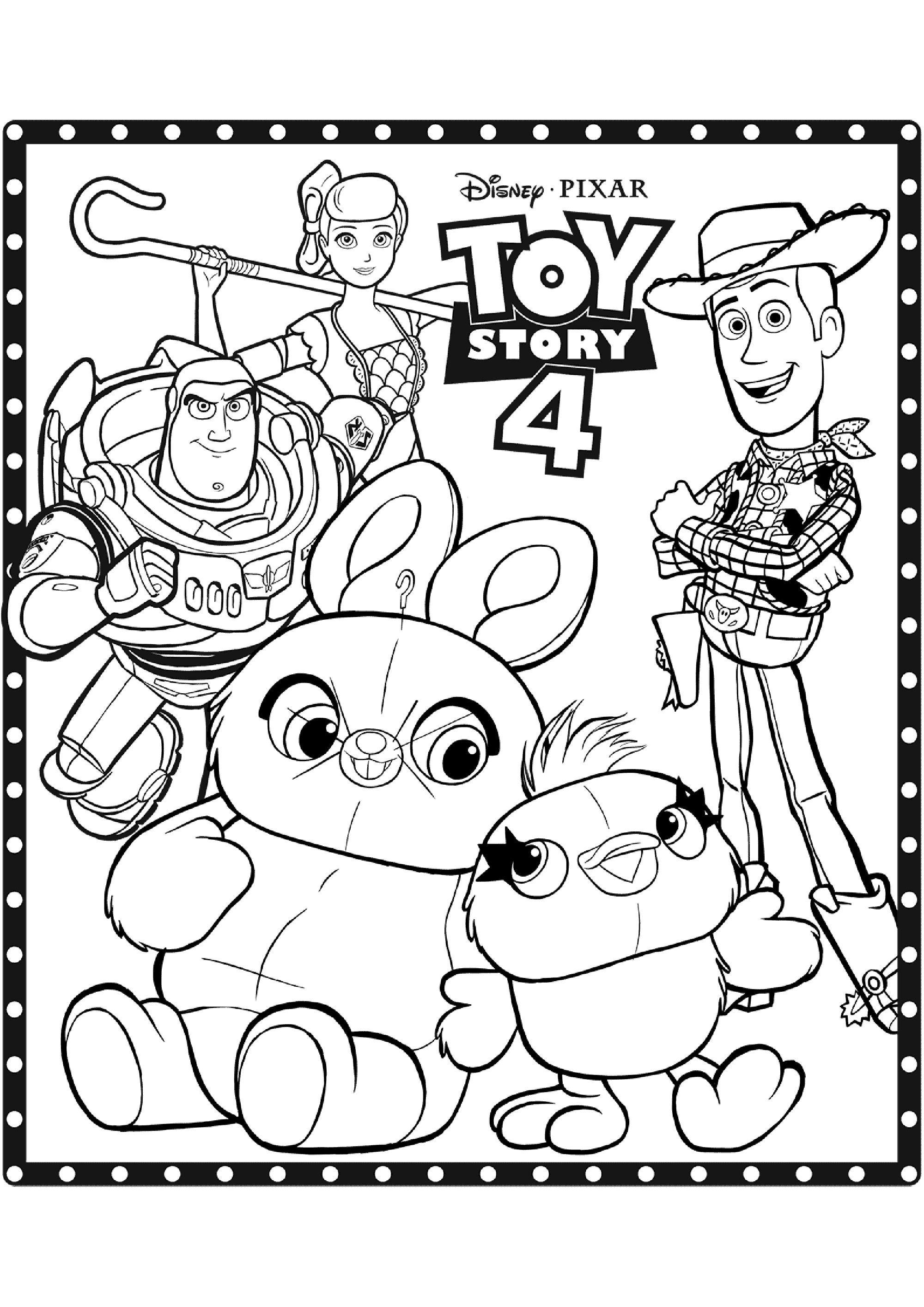 Coloriage de Toy Story 4 à telecharger gratuitement ...