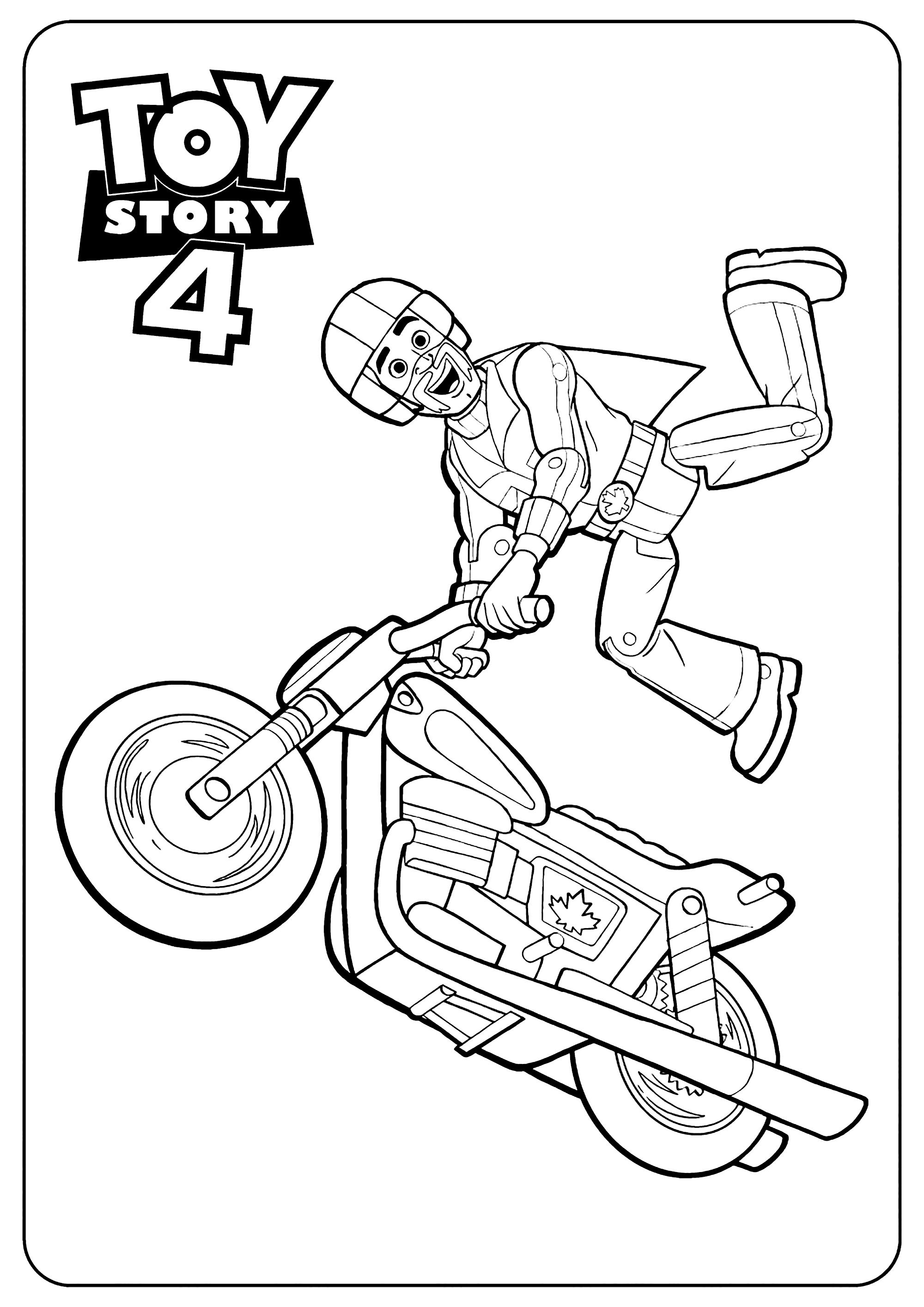 Incroyable coloriage de Toy Story 4 pour enfants : Duke Kaboom