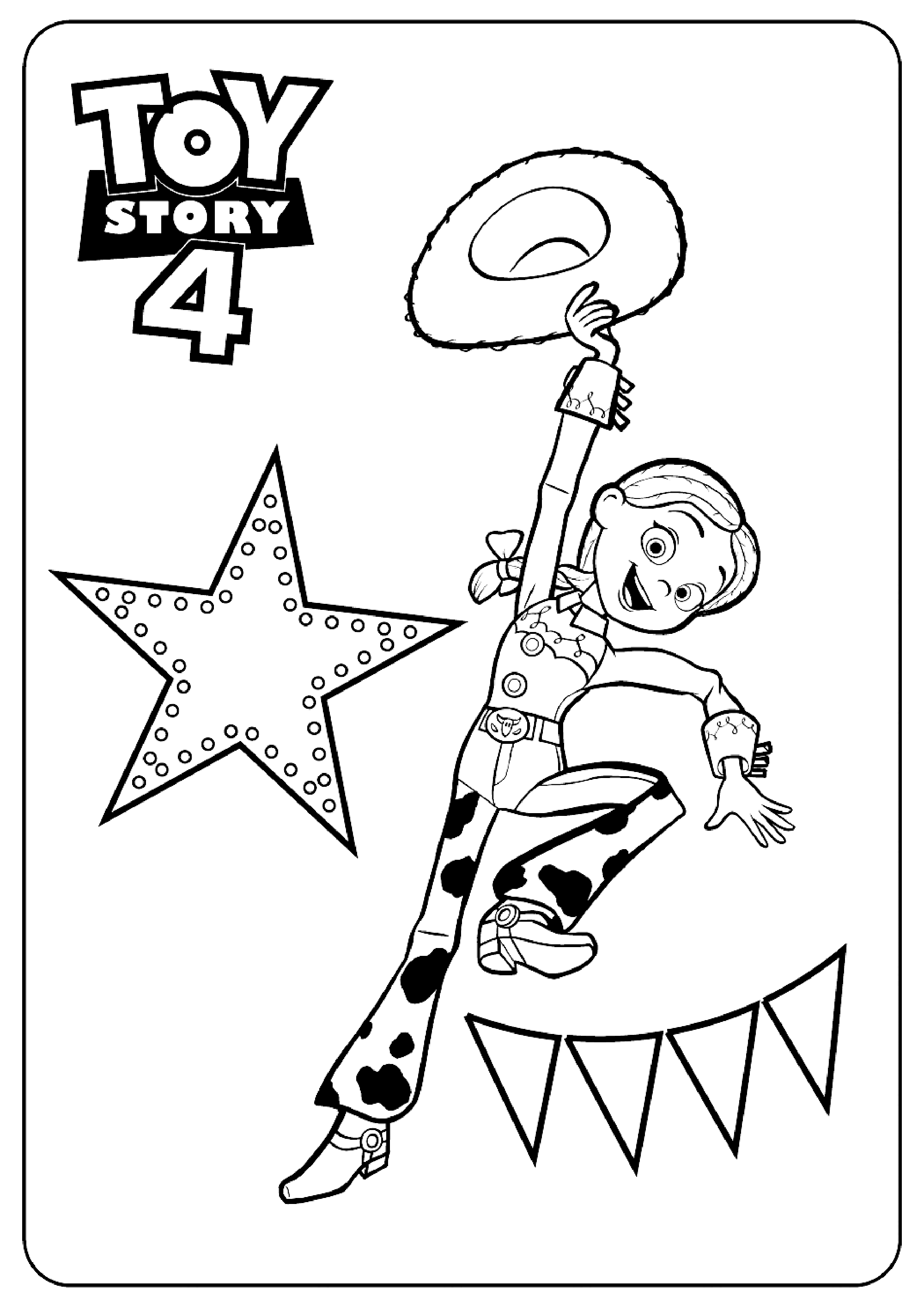 Coloriage amusant de Toy Story 4 à imprimer et colorier : Wendy