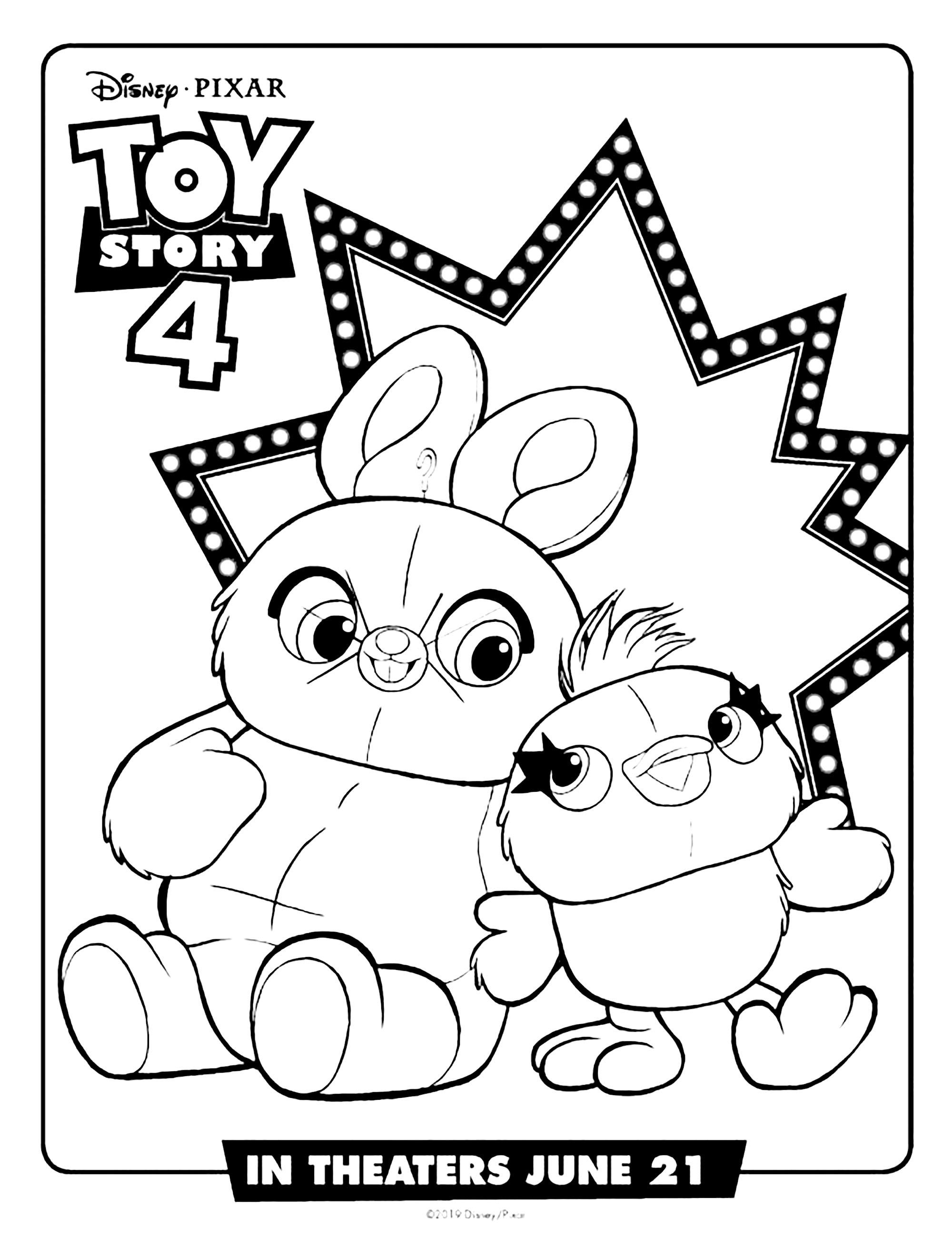 Ducky Et Bunny Coloriage De Toy Story 4 A Imprimer Gratuitement Coloriage Toy Story 4 Coloriages Pour Enfants