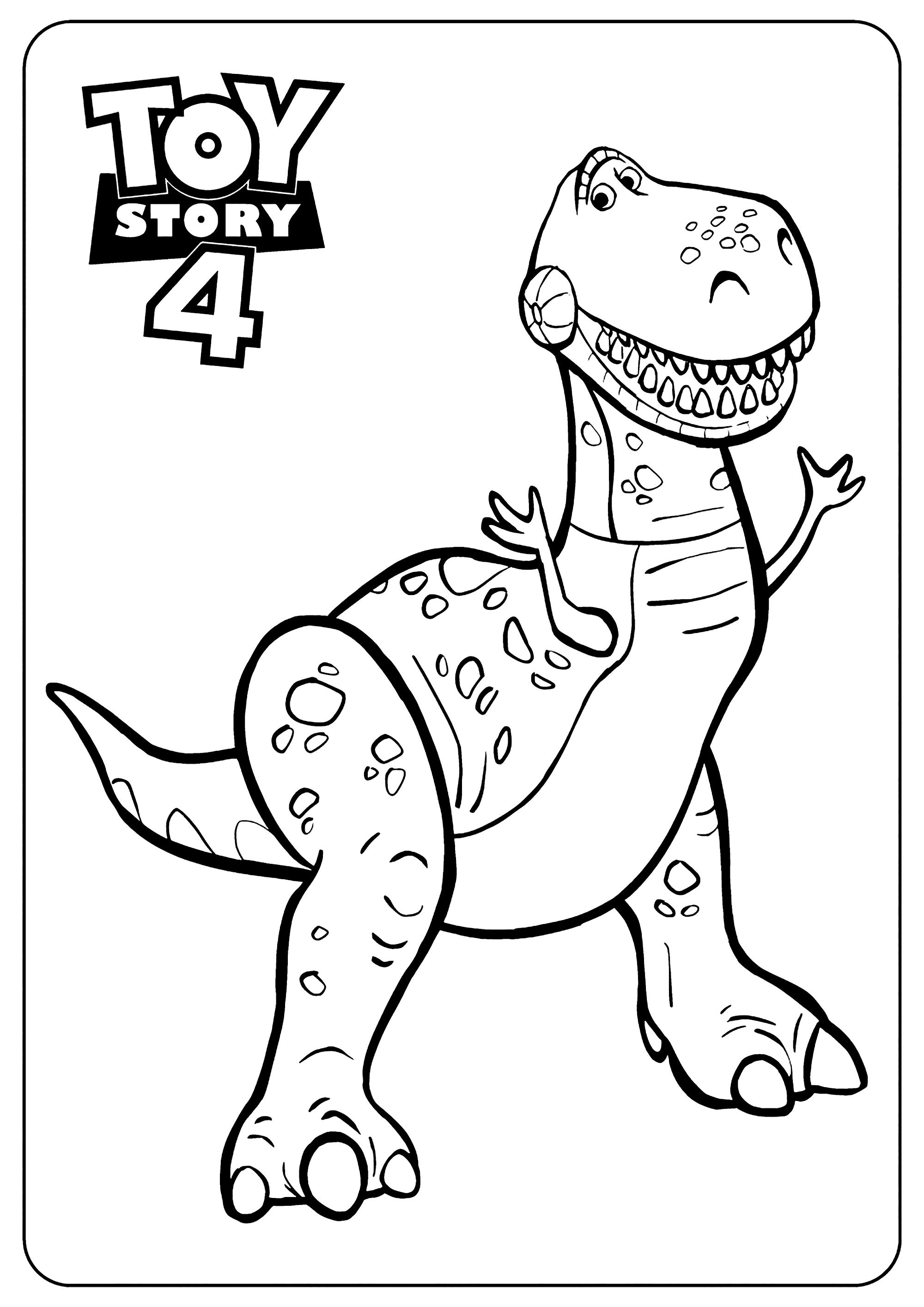 Image de Toy Story 4 à imprimer et à colorier : Dino