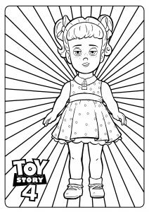 Gabby Gabby : Coloriage de Toy Story 4 à imprimer