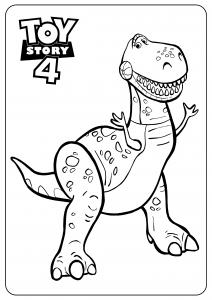 Dino : Coloriage de Toy Story 4 pour enfants