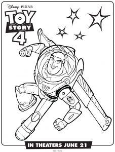 Buzz l'éclair : Coloriage de Toy Story 4 à imprimer gratuitement