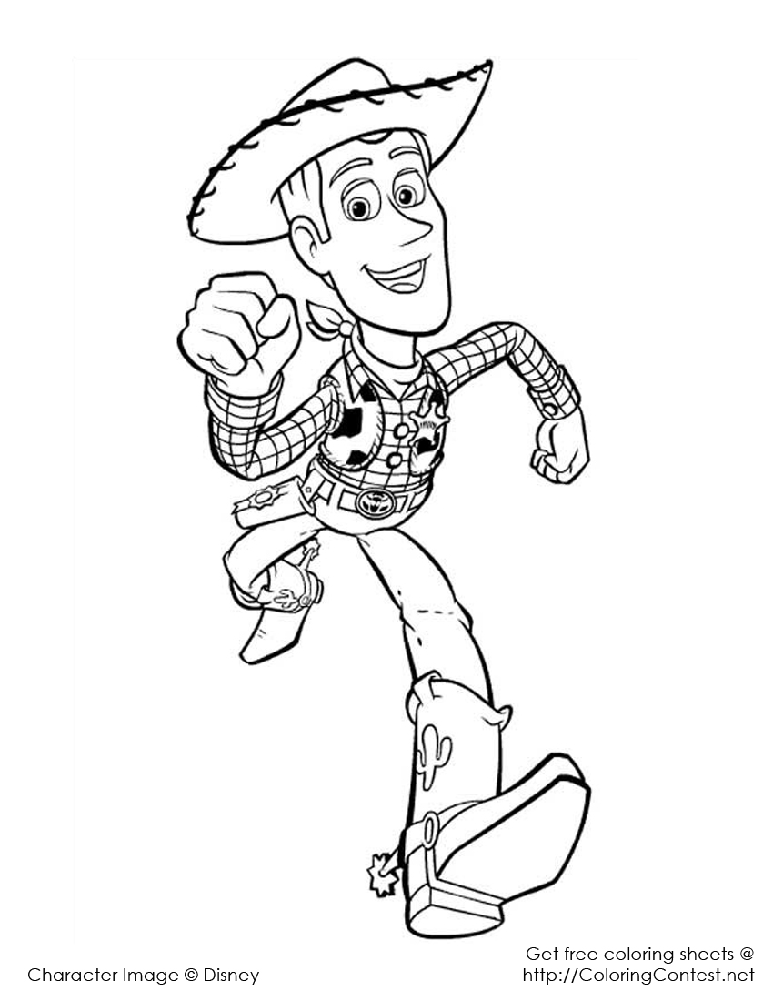 Coloriage Disney Woody.Court Woody Court Coloriage Toy Story Coloriages Pour