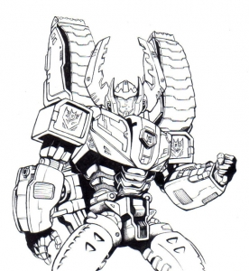 Coloriages transformers robots 8
