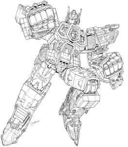 Coloriage de Transformers gratuit à colorier