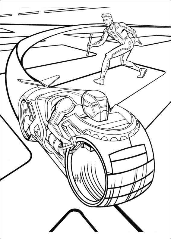 Véhicule de Tron à imprimer et colorier