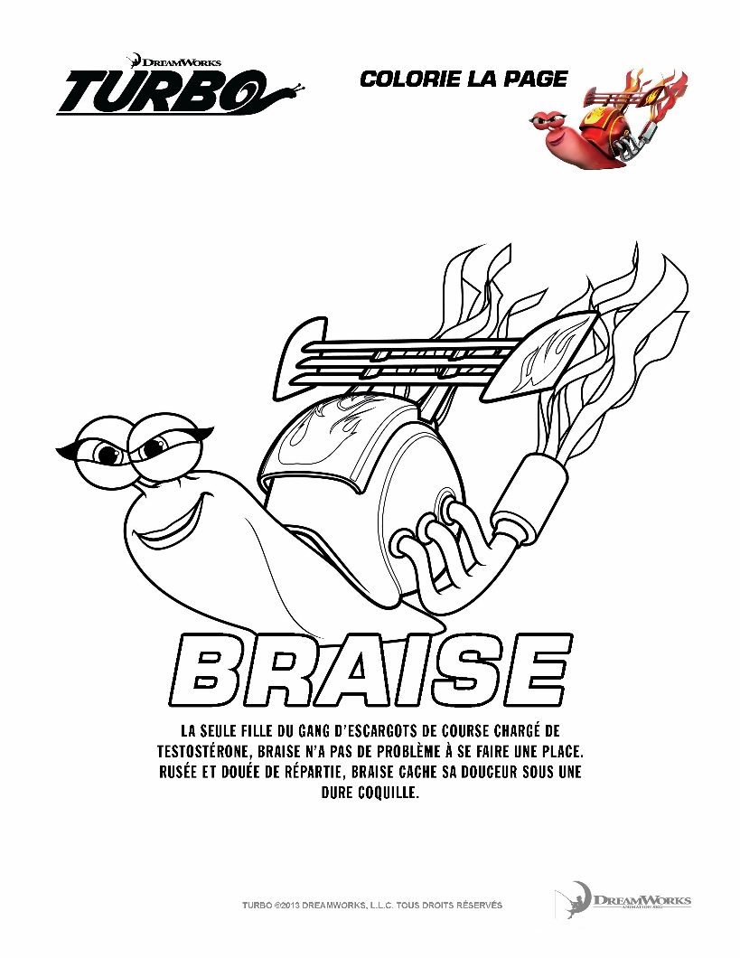 Turbo braise coloriage turbo l 39 escargot coloriages - Coloriage escargot turbo ...