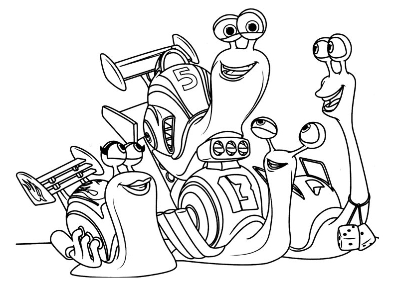 Turbo escargot 1 coloriage turbo l 39 escargot - Coloriage escargot turbo ...