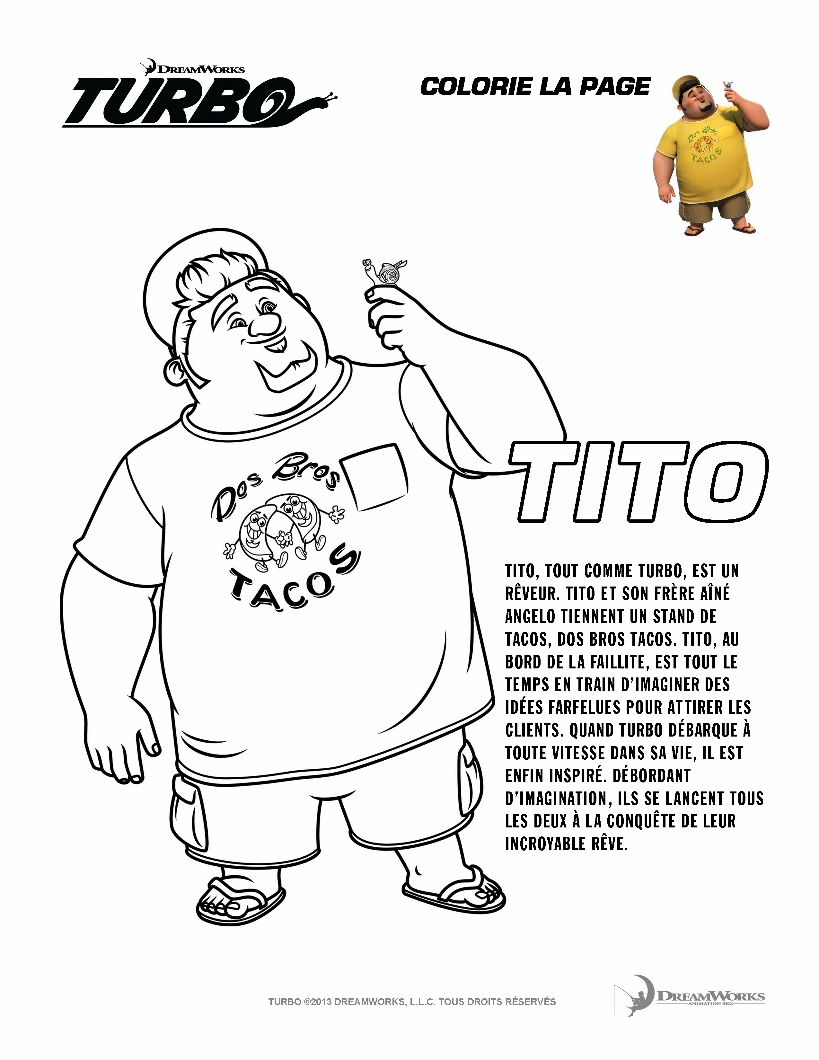 Turbo Tito Coloriage Turbo Lescargot Coloriages Pour