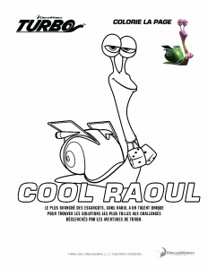 Coloriage turbo cool raoul