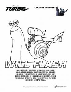 Coloriage turbo will flash